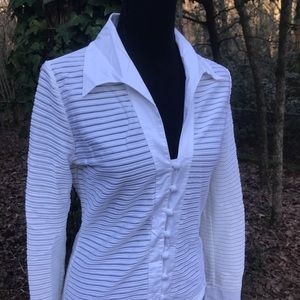 White Buttoned Blouse | Boston Proper S
